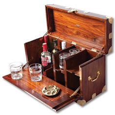 """Kevin's Campaign Furniture Collection Recreate the """"under canvas"""" ambiance in your own home or out in the field with our British Campaign Bar. Since the early British Campaign furniture has been appreciated for its innovative design, Cabinet Furniture, Wooden Furniture, Furniture Design, Furniture Ideas, Luxury Furniture, Colonial Furniture, Furniture Nyc, Cheap Furniture, Drinks Cabinet"""
