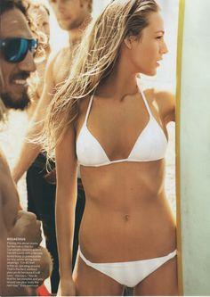 the perfect white bikini. the perfect girl.