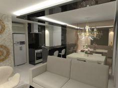 Sala com projeto luminotécnico