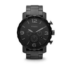 Fossil Nate Chronograph horloge JR1401 online kopen? Op werkdagen voor 23:00 besteld, volgende dag in huis. Gratis verzending en achteraf betalen!