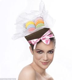 Each of the hats is made differently, requiring different timescales depending on their intricacy - macaron hat