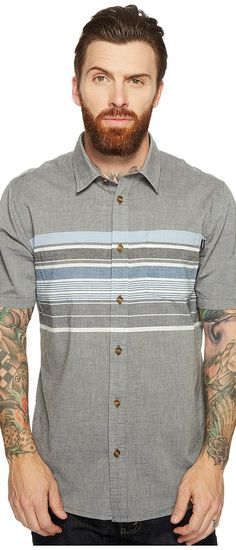 O'Neill Waters Short Sleeve Woven (Asphalt) Men's Short Sleeve Button Up - O'Neill, Waters Short Sleeve Woven, SU7104122-268, Apparel Top Short Sleeve Button Up, Short Sleeve Button Up, Top, Apparel, Clothes Clothing, Gift, - Street Fashion And Style Ideas