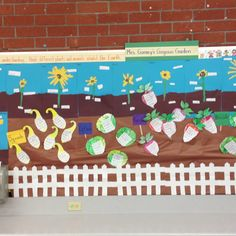 Our kindergarten garden... Learning about different plants that inhabit the earth.
