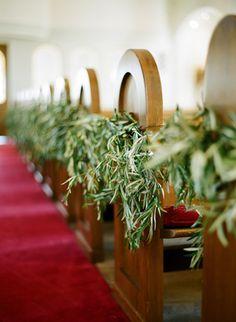 Olive leaf garland (Florist + Designer: Kelly Oshiro) - Intimate Greek Garden Inspired Wedding by  Beaux Arts Photographie - via oncewed