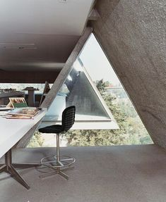 Mexican architect Augustin Hernandez' home office #roomporn