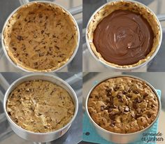 Torta Cookie recheada com Nutella - Amando Cozinhar: Receitas Fáceis e rápidas Delicious Deserts, Yummy Food, Cute Baking, Bakers Gonna Bake, Food Goals, Sweet Cakes, Cookies Et Biscuits, Dessert Recipes, Desserts
