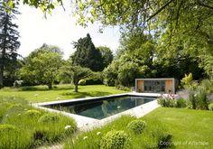 Contemporary Garden Swimming Pool - Artscape