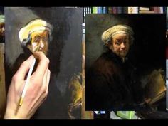 Painting Rembrandt in Acrylic: Part 2 Painting Demo - YouTube