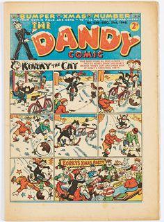 Dandy Comic, Life In The 1950s, Comic Art, Comic Books, British, Merry, Xmas, Posters, Cartoon