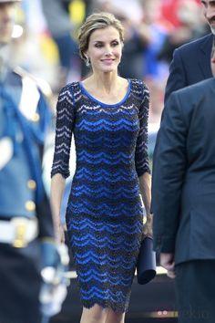 La Reina Letizia vestida de Felipe Varela en los Premios Príncipe de Asturias 2014