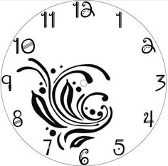 Make a Clock! Clock Template, Face Template, Wood Burning Stencils, Wood Burning Patterns, Clock Face Printable, Bottle Top Crafts, Make A Clock, Rustic Wall Clocks, Gifts For Office