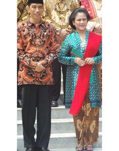 Cabinet Inauguration   Iriana Jokowi   kebaya kutubaru