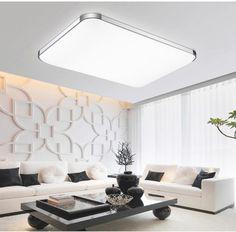 Gross-72W-LED-Deckenleuchte-Deckenlampe-Wohnzimmer-Leuchte-Dimmbar-Fernbedienung