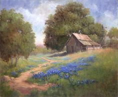 texas bluebonnet paintings - Google Search