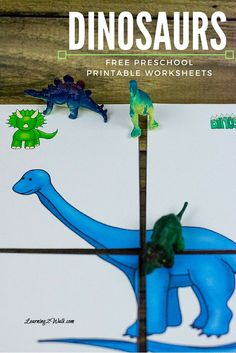 Grab your markers, scissors, shoe laces as well as crayons- its time to use these dinosaurs free preschool printable worksheets to help your kids learn.