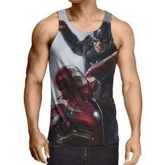 Captain America: 3D Printed Contrivance Captain America Tank Top