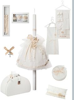 LUXURY Baptism-Ecru christening set-baptismal set Ladopana-all you need for your baby's baptism- girl greek orthodox christening set Baby Baptism, Baptism Dress, Christening, Baptism Candle, Baptism Favors, Hard Crafts, Baby Sleepers, Craft Box, Greek