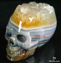Agate Crystal Skull http://www.skullis.com/Druse-Skulls-1.html