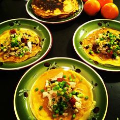 Whole wheat crepes: Russian blini with chicken