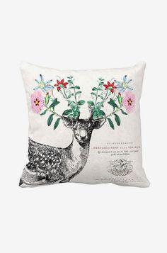 Pillow Cover Deer Pillow Cotton and Burlap