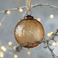 Amber Fronds Globe Ornament