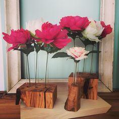 Nuovi Fiori Sospesi in legno di olivo.... Nuova Linea Produzioni di Design