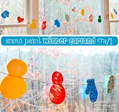 My Merry Messy Life: Snow Paint Winter Garland Craft