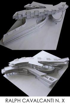 CAVALCANTI Hotel Design Architecture, Concept Models Architecture, Architecture Presentation Board, Organic Architecture, Futuristic Architecture, Facade Architecture, School Architecture, Mall Design, Pop Design