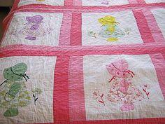 Vintage Sunbonnet Sue Quilt Block, 1930s Prim Sun Bonnet Girl ... : sunbonnet sue quilt blocks - Adamdwight.com