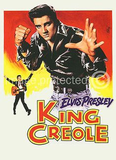 King Creole Vintage Elvis Presley Movie 11x17 Poster US Release White No Credits