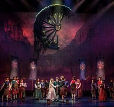 Brigadoon. Goodman Theatre. Set and projection design by Kevin Depinet.