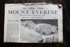 Everest pictures and Yetis, what more could you want from a post! Some two years before Sir Edmund Hillary and Tenzing Norgay became the first (confirmed for all you Mallory enthusiasts) climbers t… Alpine Climbing, Mountain Climbing, Monte Everest, A Well Traveled Woman, Sacred Mountain, Leather Bound Books, Vide Poche, Top Of The World, Mountaineering