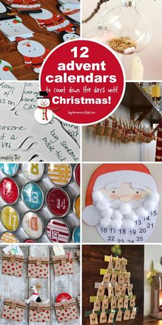 Easy Advent Calendars to Make at Home: We've rounded up 12 of the best DIY Advent Calendar Ideas to help your family count down the days to Christmas. Christmas Crafts For Kids To Make, Merry Christmas Happy Holidays, Christmas Activities, A Christmas Story, Holiday Crafts, Holiday Fun, Christmas Holidays, Christmas Ideas, Winter Holidays