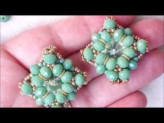 Tutorial orecchini PAIGE - YouTube Ring Earrings, Beaded Earrings, Sterling Silver Rings, Silver Jewelry, Cowgirl Bling, Earring Tutorial, Knuckle Rings, Turquoise Rings, Native American Jewelry