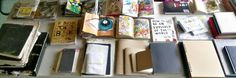 Journals:  Keri Smith collection, adult colouring books, filled art diaries, notepads makeshift journals, moleskine,  mixed diaries/journals