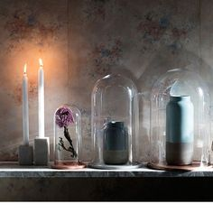 Glass Dome Candle Holder by Broste Copenhagen | MONOQI #bestofdesign