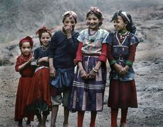 "miss-mary-quite-contrary: "" Atlas Mountains, Morocco: five beautiful Berber girls, circa 1988 """