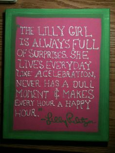 I want to make this canvas for one of my Lilly loving besties