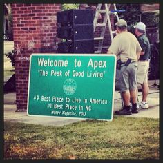 #1 town in NC, who doesn't love Apex, NC