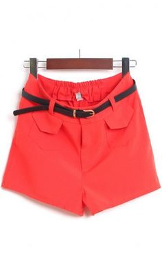 Cute casual shorts 551 Red. very trendy