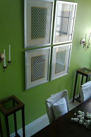 FOCAL POINT STYLING: DIY - A FRAMED FABRIC FOCAL POINT