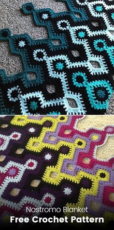 Nostromo Blanket Free Crochet Pattern #crochet #crafts #yarn #homedecor #handmade #style #homemade