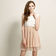 Cheap vest dress, Buy Quality dress bat directly from China dress up girls party Suppliers: TOP Sale summer womens Court style Retro Lace Sleeveless Vest dress With Waist Rope Casual Party Dresses Vestidos Free S Casual Party Dresses, Stylish Dresses, Cheap Dresses, Cute Dresses, Beautiful Dresses, Formal Dresses, Chiffon Dress, Lace Dress, Lace Chiffon
