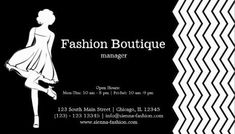 modern girly black and white chevron fashion boutique business cards httpwww - Boutique Business Cards