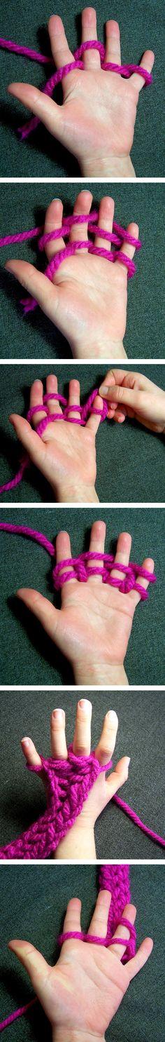 Tricoter avec ses doigts DIY