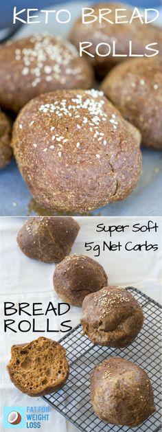 Keto Bread Rolls - Paleo Rolls @fatforweightlos