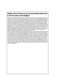 roger-vivier-france-you-can-purchase-lower-price-on-the-web-is-low-budget by brand shoes via Slideshare