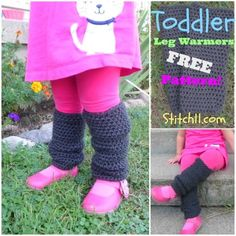 Toddler Leg Warmers ~ FREE Pattern from Stitch 11 :)