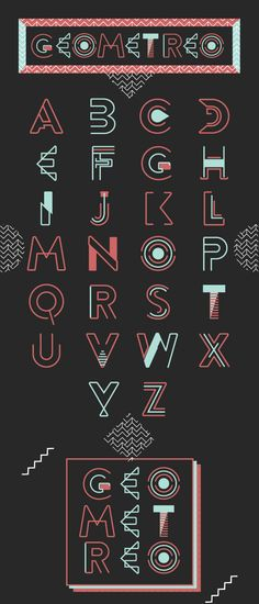 Geometreo Typeface by Jo Aguilar, via Behance