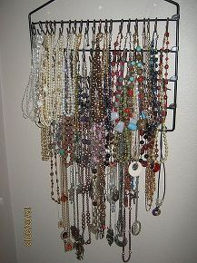 necklace rack, cleaning tips, I make jewelry and needed a place to hang the necklaces